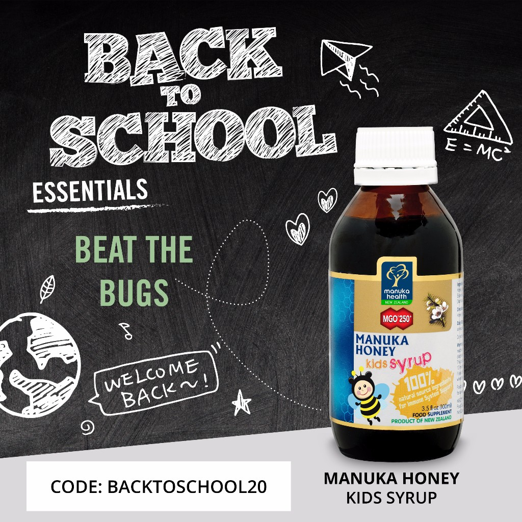 Beat back to school bugs with ManukaHealth honey